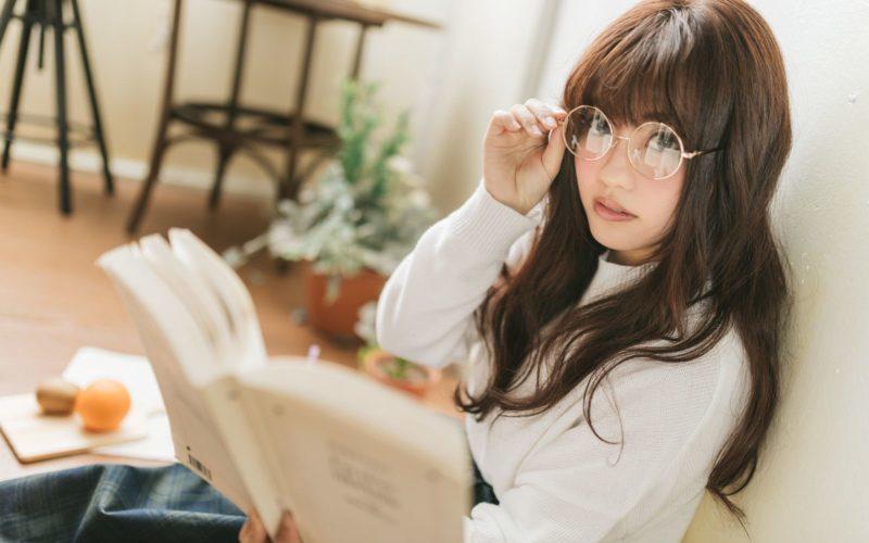 たまに眼鏡女子のギャップ