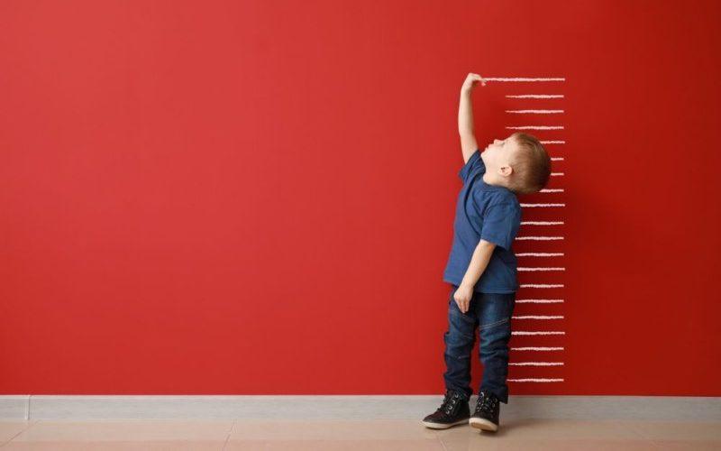 身長を測る子供