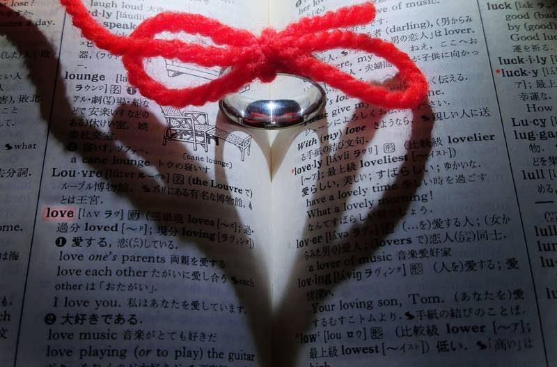辞書と赤い糸