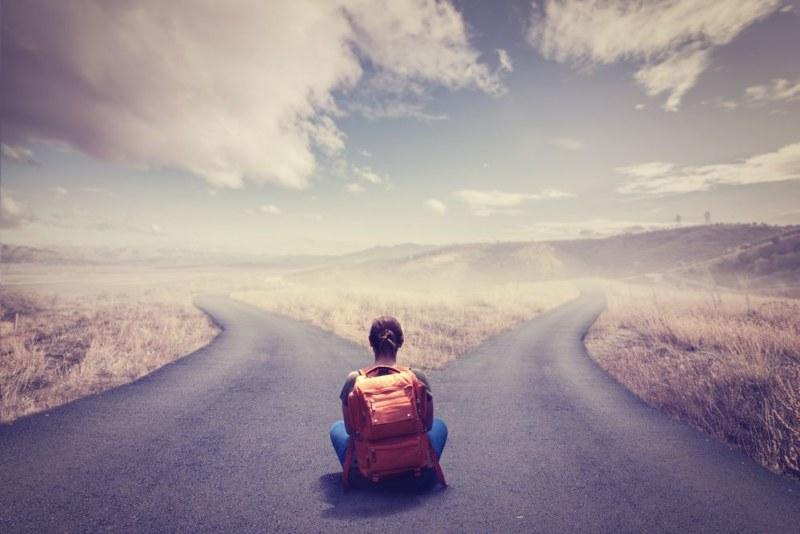 道を選択する