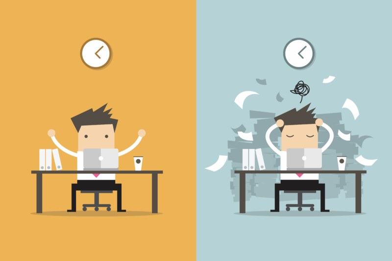 忙しいときと暇なとき