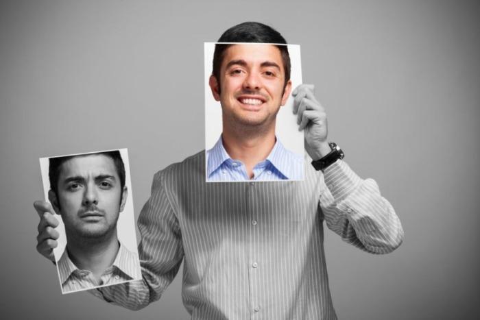 笑顔に変わる男