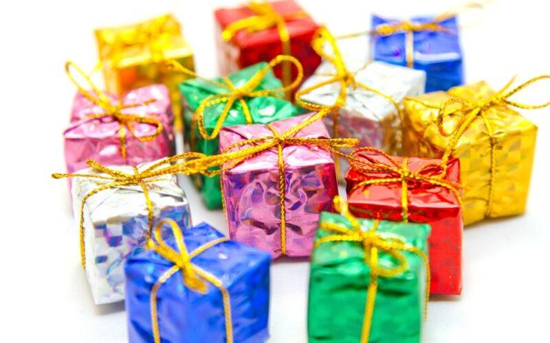 多数のプレゼントボックス